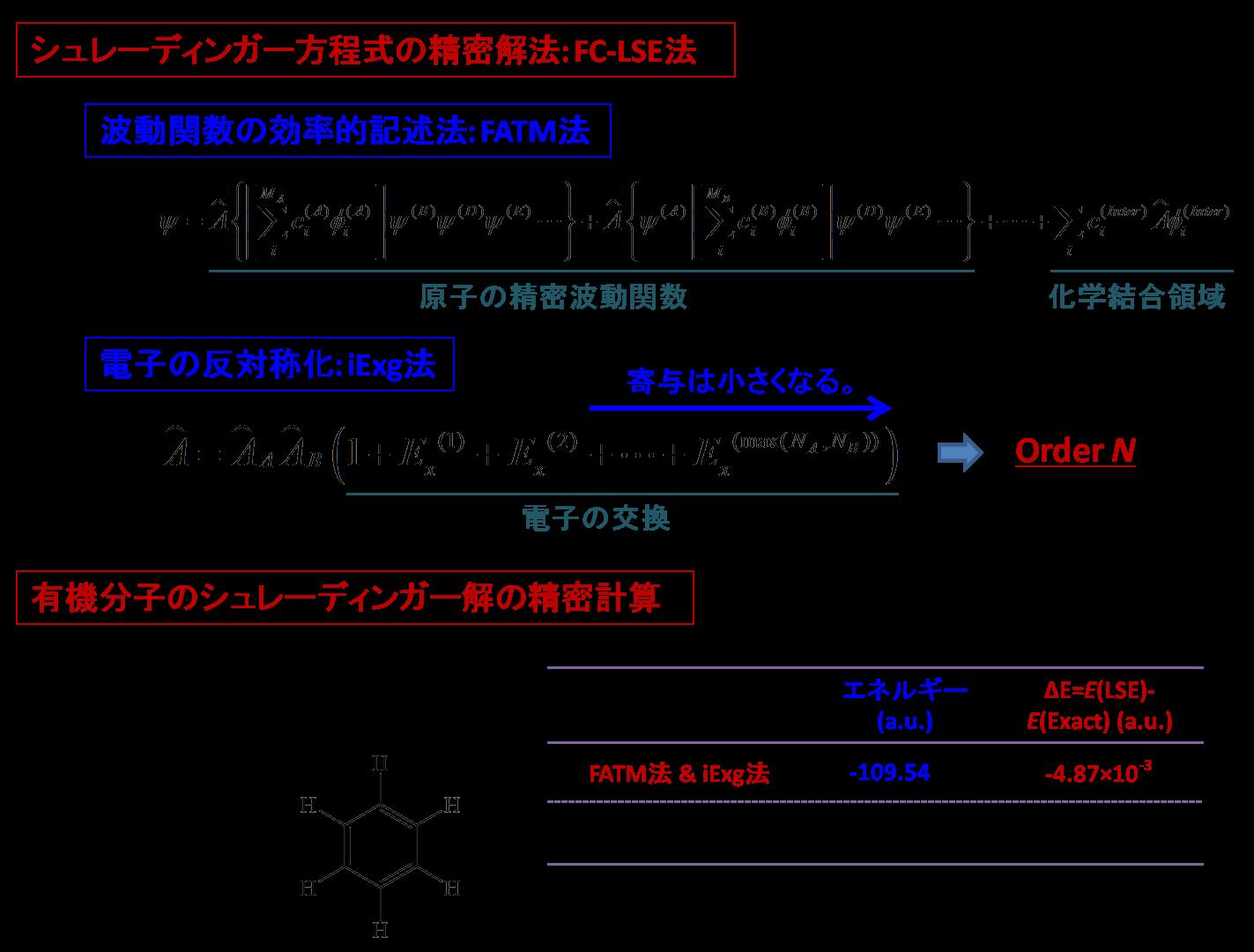 FC-LSE-iExg法による有機分子のシュレーディンガー解の計算