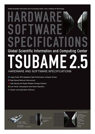 TSUBAME2.5 HARDWARE SOFTWARE SPECIFICATIONS
